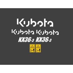 Kubota KX 36-3, 61-3,...