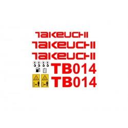 TAKEUCHI TB014 TB015 TB016